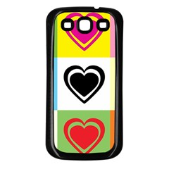 Hearts Samsung Galaxy S3 Back Case (black) by Siebenhuehner
