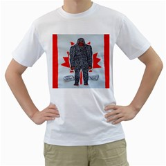 Big Foot A, Canada Flag Men s T Shirt (white)  by creationtruth