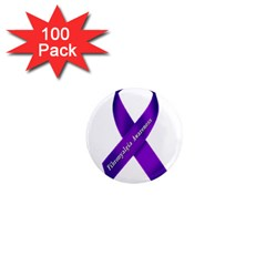 Fibro Awareness Ribbon 1  Mini Button Magnet (100 Pack) by FunWithFibro