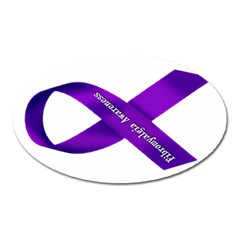 Fibro Awareness Ribbon Magnet (oval) by FunWithFibro