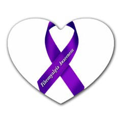 Fibro Awareness Ribbon Mouse Pad (heart) by FunWithFibro