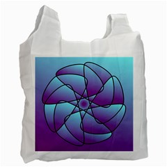 Pattern White Reusable Bag (one Side) by Siebenhuehner