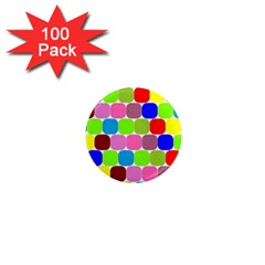 Color 1  Mini Button Magnet (100 Pack) by Siebenhuehner