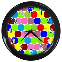 Color Wall Clock (black) by Siebenhuehner