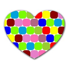 Color Mouse Pad (heart) by Siebenhuehner
