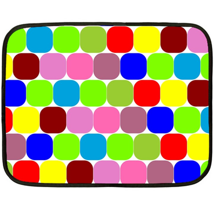 Color Mini Fleece Blanket (Two Sided)