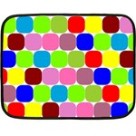 Color Mini Fleece Blanket (Two Sided) 35 x27 Blanket Back