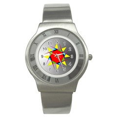 Star Stainless Steel Watch (slim) by Siebenhuehner