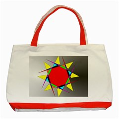 Star Classic Tote Bag (red) by Siebenhuehner