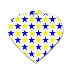 Star Dog Tag Heart (two Sided) by Siebenhuehner