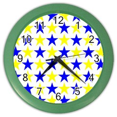 Star Wall Clock (color) by Siebenhuehner