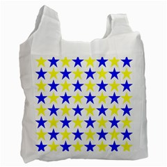 Star White Reusable Bag (one Side) by Siebenhuehner