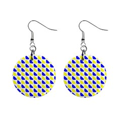 Pattern Mini Button Earrings by Siebenhuehner
