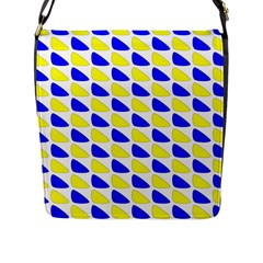 Pattern Flap Closure Messenger Bag (large) by Siebenhuehner