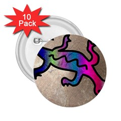 Lizard 2 25  Button (10 Pack)