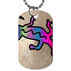 Lizard Dog Tag (two Sided)