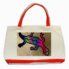 Lizard Classic Tote Bag (red) by Siebenhuehner