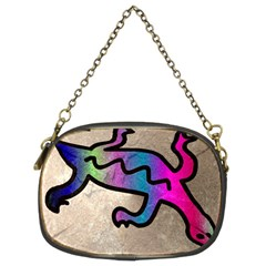Lizard Chain Purse (two Sided)