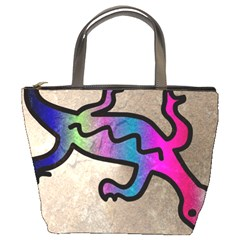 Lizard Bucket Handbag