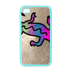 Lizard Apple Iphone 4 Case (color) by Siebenhuehner
