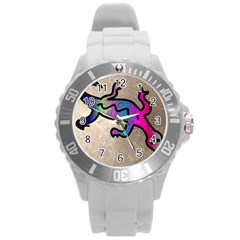 Lizard Plastic Sport Watch (large) by Siebenhuehner