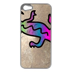 Lizard Apple Iphone 5 Case (silver) by Siebenhuehner