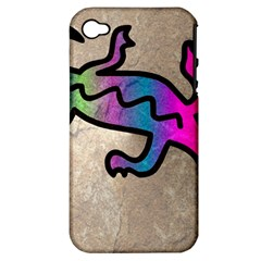 Lizard Apple Iphone 4/4s Hardshell Case (pc+silicone)
