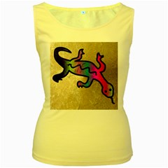 Lizard Women s Tank Top (yellow)