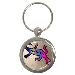 Lizard Key Chain (round)