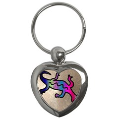 Lizard Key Chain (heart)