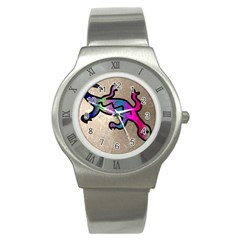 Lizard Stainless Steel Watch (slim)