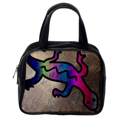 Lizard Classic Handbag (one Side) by Siebenhuehner