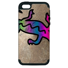 Lizard Apple Iphone 5 Hardshell Case (pc+silicone)