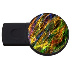 Abstract Smoke 2gb Usb Flash Drive (round) by StuffOrSomething