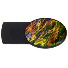 Abstract Smoke 2gb Usb Flash Drive (oval) by StuffOrSomething