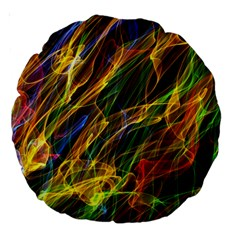 Abstract Smoke 18  Premium Round Cushion  by StuffOrSomething