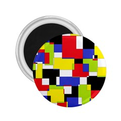Mod Geometric 2 25  Button Magnet by StuffOrSomething
