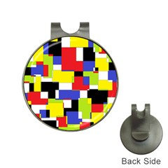 Mod Geometric Hat Clip With Golf Ball Marker by StuffOrSomething