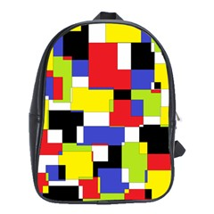 Mod Geometric School Bag (xl) by StuffOrSomething