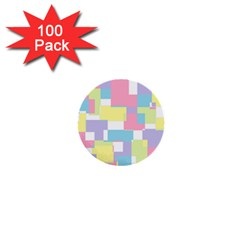 Mod Pastel Geometric 1  Mini Button (100 Pack) by StuffOrSomething