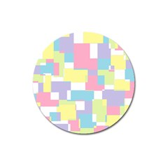 Mod Pastel Geometric Magnet 3  (round) by StuffOrSomething