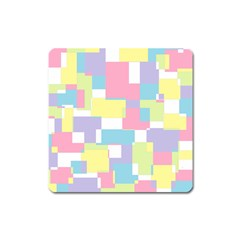 Mod Pastel Geometric Magnet (square) by StuffOrSomething