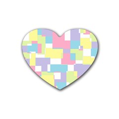 Mod Pastel Geometric Drink Coasters (heart) by StuffOrSomething