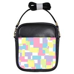 Mod Pastel Geometric Girl s Sling Bag by StuffOrSomething