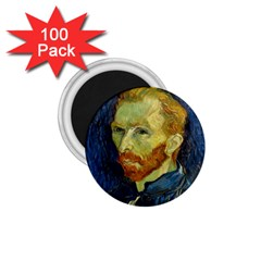 Vincent Van Gogh Self Portrait With Palette 1 75  Button Magnet (100 Pack) by MasterpiecesOfArt