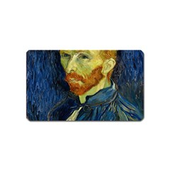 Vincent Van Gogh Self Portrait With Palette Magnet (name Card) by MasterpiecesOfArt