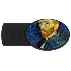 Vincent Van Gogh Self Portrait With Palette 2gb Usb Flash Drive (oval) by MasterpiecesOfArt