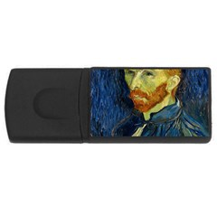 Vincent Van Gogh Self Portrait With Palette 4gb Usb Flash Drive (rectangle) by MasterpiecesOfArt