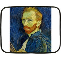 Vincent Van Gogh Self Portrait With Palette Mini Fleece Blanket (two Sided) by MasterpiecesOfArt
