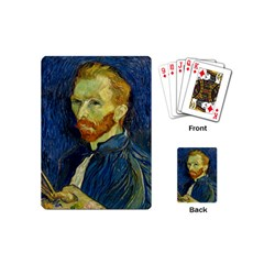 Vincent Van Gogh Self Portrait With Palette Playing Cards (mini) by MasterpiecesOfArt